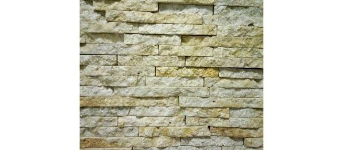 Стена из желтого новгородского известняка