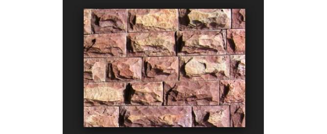 Фото облицовки из плитка александровского известняка разных оттенков бежевого